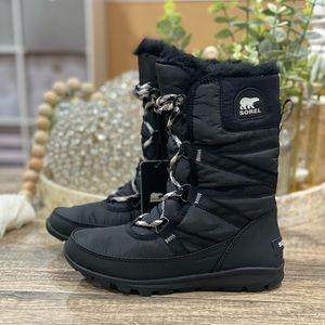 🆕 Sorel Womens Whitney Tall Black Snow Boots
